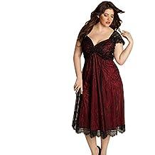 Robes Femmes,Manadlian Robes Femmes 2017 Robe de soirée imprimée florale  plus grande taille