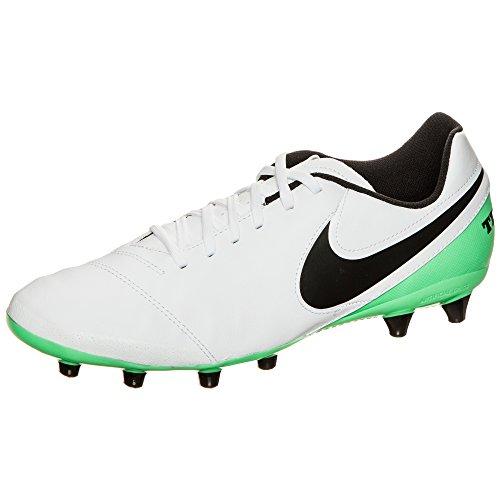 Nike Herren Tiempo Genio Ii Leather Ag-Pro Fußballschuhe Weiß (White/Black-Electro Green)