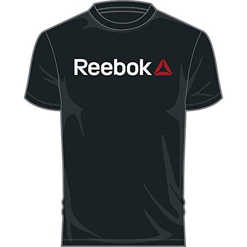 Reebok Qqr Linear Read Camiseta, Hombre, Negro, L