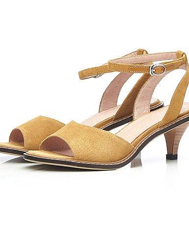 LFNLYX Scarpe Donna-Sandali-Ufficio e lavoro / Formale / Casual-Spuntate / Con cinghia / D'Orsay-A cono-Scamosciato-Nero / Giallo Yellow