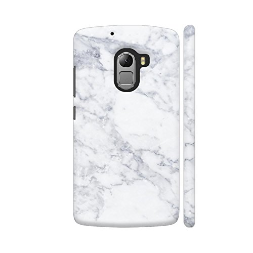 Colorpur White Marble Printed Back Case Cover for Lenovo K4 Note