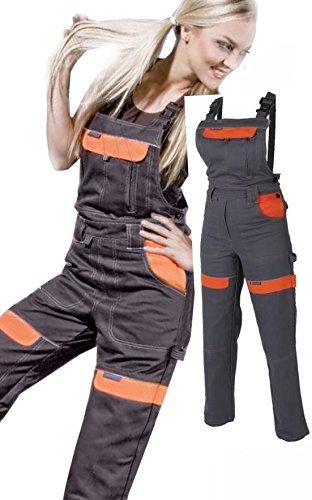Latzhose Arbeitshose Damen und Mädchen Schutzhose + Freie dreidimensionale Linie Arbeitslatzhose Kombihose 40 EU