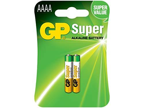 Oferta de GP Super Alkaline AAAA, Pillas Cilíndricas, 1.5V, Multicolor, 2 Unidades