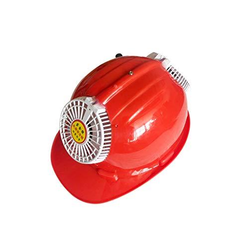 TANG CHAO Schutzhelm mit Sperrklinke, Bauindustrie Arbeitsschutzhelm Belüftungshelm (Color : Red) Red Chaos
