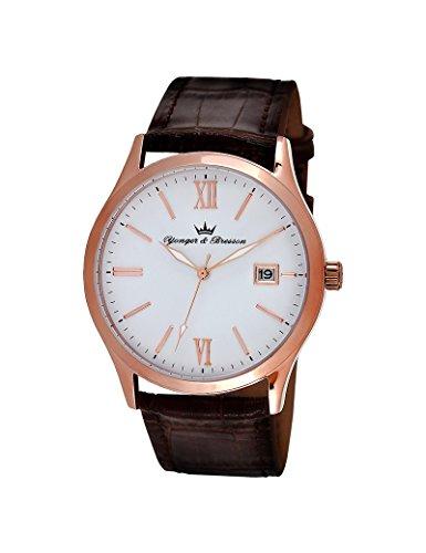 Reloj Yonger & Bresson hombre soleillé blanco–HCR 045/BU–Idea regalo Noel