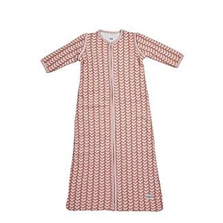 Meyco 515026Saco de dormir de invierno 110cm, Knitted Heart (Corazón), color rosa