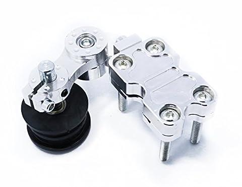 CNC Tendeur de chaîne réglable avec rouleau pour moto motocross Enduro