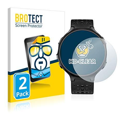 BROTECT Schutzfolie kompatibel mit Garmin Forerunner 235 [2er Pack] klare Bildschirmschutz-Folie