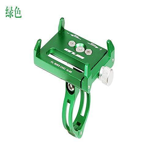handyhalterung Fahrrad,Mountainbike Aluminiumlegierung Handyhalter Elektro-Akku Auto Motorrad Handyhalter, grün -