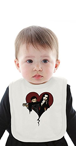 Addams Family Valentine Organic Baby Bib With Ties Medium (Baby-gomez Family Addams)