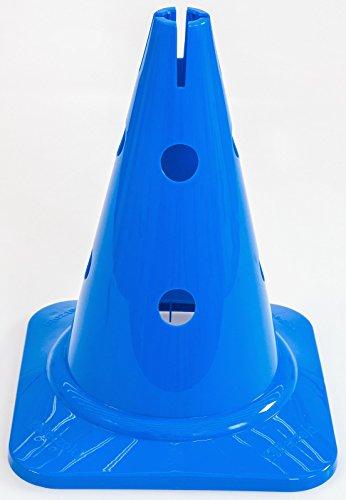 Betzold Kegel mit Löchern – Agility Pylonen Kinder Baustelle Kegel Koordinationstraining Markierungshütchen Verkehrshütchen Spielfeldmarkierung Verkehrskegel Fussball Hütchen