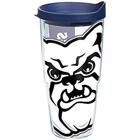 Tervis 1201522 Butler University Colossal Wrap Individual Tumbler with Navy lid, 24 oz, Clear by Tervis
