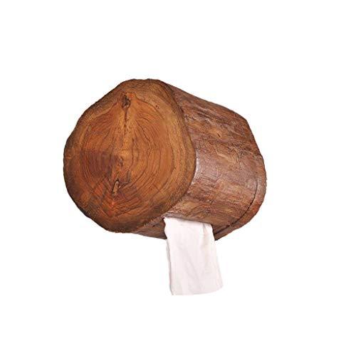 WEEKDEGY Toilettenpapierhalter aus Holz, Wandmontage, Seidenpapierhalter, Küchenrollenhalter für Badezimmer, rund
