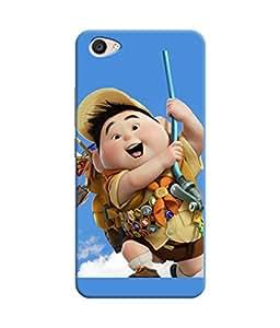 Printhub Printed Back Cover For VIVO V5 plus-A boy has a cartoon playing in the air Printed Back cover VIVO V5 plus