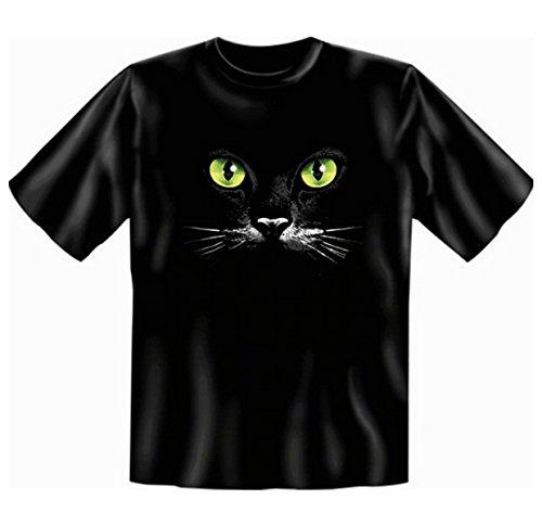 T-Shirt mit Katzen Motiv - Schwarze Katze - Fun-Shirt Geburtstag-Geschenk geil bedruckt