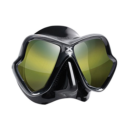 Mares X-Vision Ultra Liquid Skin Tauchermaske (schwarz/gold verspiegelt) -