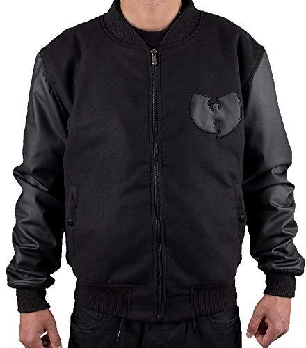 Wu Wear Protect Ya Neck Varsity College Bomber Jacket All Black Wu-Tang Clan (Wear Jacke Wu)