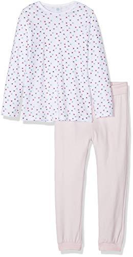 Sanetta Baby-Mädchen Pyjama Zweiteiliger Schlafanzug, Weiß (White 10), (Herstellergröße: 104)