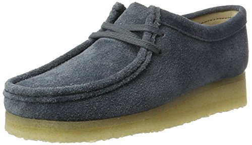 Clarks Originals Damen Wallabee. Derbys Blau (Slate Suede)