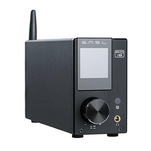 dsp hifi SMSL AD18 HIFI Audio Stereo Verstärker mit Bluetooth 4.2 Unterstützt Apt-X, USB DSP Full Digital Verstärker 2.1 für Lautsprecher,Small 80Wx2 Class D Verstärker mit Subwoofer Ausgang