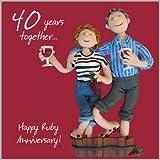 40th Wedding Anniversary Card