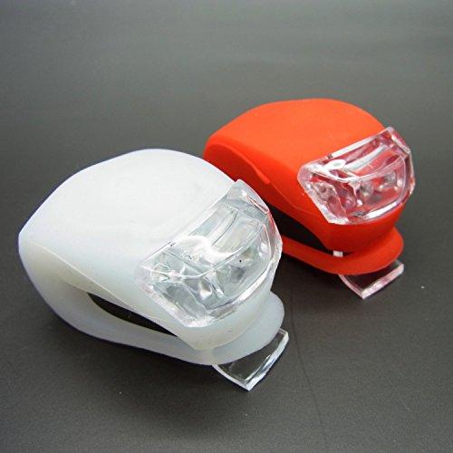 2er-Set LED Fahrradlampe Silikon Fahrrad Lampe Fahrradlicht Front- & Rücklicht DC-008