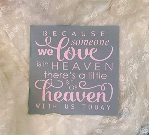 Blush Light Pink Memorial Table Signbecause Someone We Love is In Heaven Theres A Little Bit of Heaven with Us Today Grey Gray Light Pink - Front Porch Light