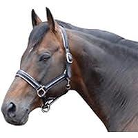 Caldene - Cabezada acolchada de cuero para caballos