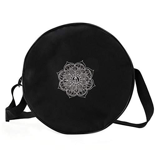 HELLOO HOME Sport Kleine Sporttasche für Dharma Wheel Yoga Wheel Spezielle Aufbewahrungstasche Schulter Fitness Tasche Reisetasche für Frauen (Farbe: Schwarz)