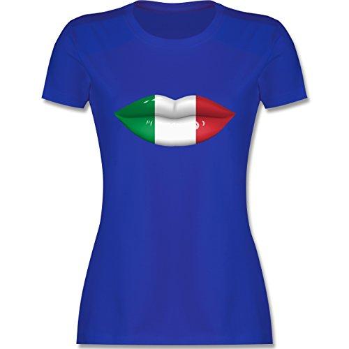EM 2016 - Frankreich - Lippen Bodypaint Italien - tailliertes Premium T-Shirt mit Rundhalsausschnitt für Damen Royalblau