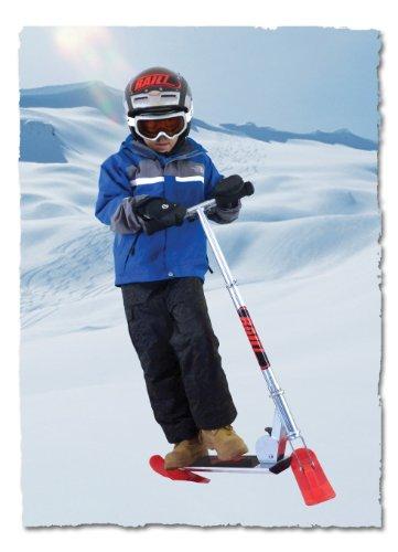 Railz Jugend Snow Scooter, der beste Compact Kick Snowscooter, Weihnachtsgeschenk, Schlitten, Spielzeug, Street Scoot -