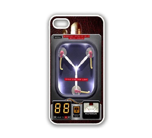Customize iPhone 5 Case White ThinShell Case Protective iPhone 5 Case Flux Capacitor Design