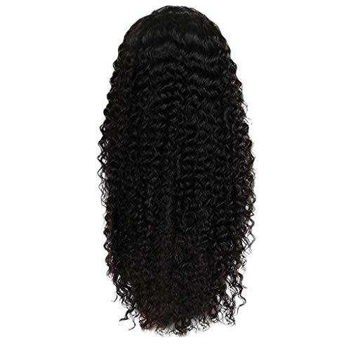 ☀JiaMeng Afro Curly Wig Kinky Hair Loose Curly Synthetic Lace Front Wigs for Black Women Fashion Mittel Langhaar gewellt (Kinky Rote Locken Perücke)