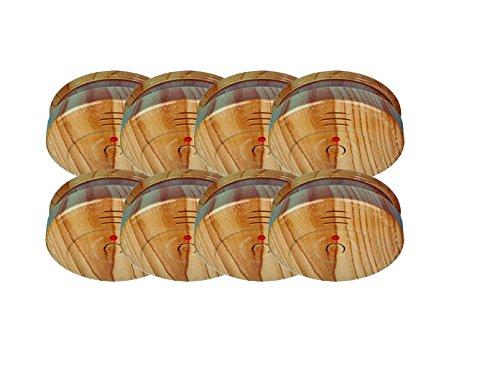 8er-SET Rauchmelder in Holzoptik mit austauschbarer 5 Jahres Batterie - Jetzt 5 Jahre Brandschutz...