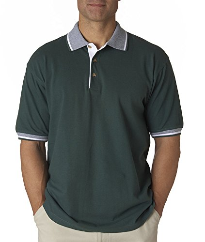 UltraClub -  Polo  - Uomo Forest Green/ White