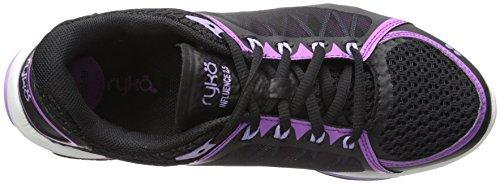 Ryka Women's INFLUENCE2.5 Cross-Trainer Shoe Black/Purple