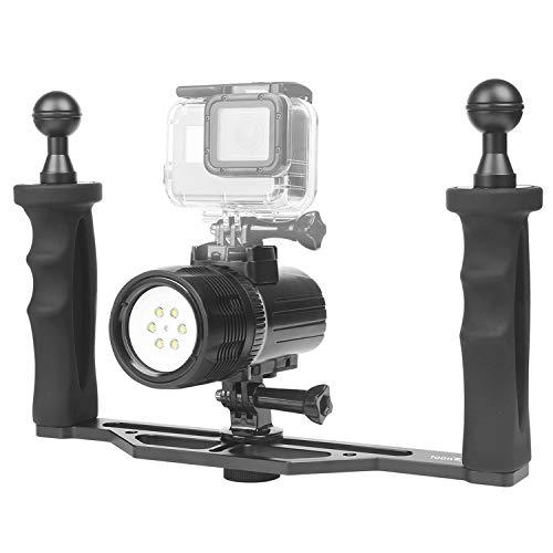 SHOOT 60m Wasserdicht Tauchen Licht mit Griff Grip Dimmbar Wiederaufladbare 1000LM LED 3 Modelle Video Scuba Light Fill Nachtlicht Tauchen Unterwasser