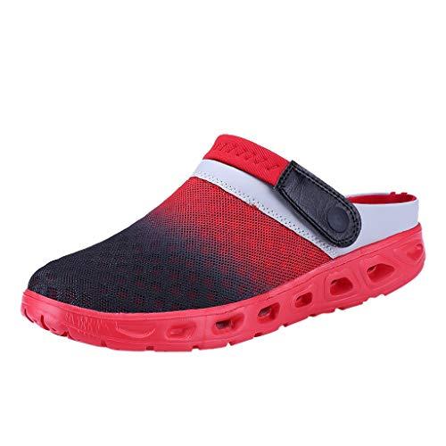 DIKHBJWQ Led Schuhe Sandalen Damen Hausschuhe Leder Herren Sneaker Weiß Timberland Stiefel Badeschuhe Baby Bootsschuhe Damen Rot