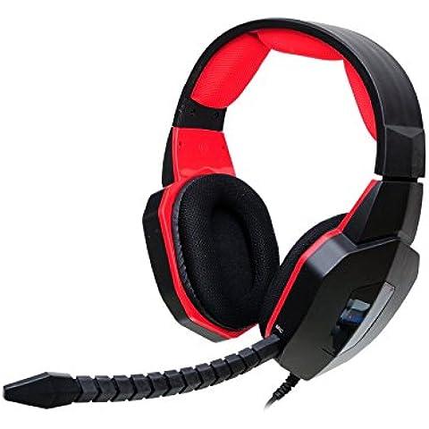 EasySMX HUHD Pro Estéreo Auriculares para Juegos con Cable para Pro Jugadores con Plug-in Micrófono USB 2.0 para PS4 / PS3 / Xbox 360 / PC / Mac También Compatible con Xbox One (Si usted ya tiene un adaptador de Microsoft o