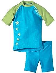 Zunblock Stars not stripes Anti-UV - Camiseta y pantalones cortos para niños, color verde (Turquoise/Lime), talla 2 años