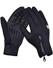 Handcuffs Fashion Warm Waterproof Winter Outdoor Glove Cycling Gloves Biking Gloves Snowmobile Snowboard Ski Gloves Athletic Gloves Mittens (Black)
