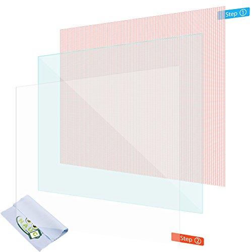 NAUC 2X Displayschutzfolie 10.1 Zoll Tablet Schutzfolie Universal Displayfolie Folie