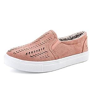 TWBB Damen Schuhe, Sommer Aushöhlen Runder Zeh, Beiläufig Plattform Flache Ferse Anti-RutschEinfarbig PU Sneaker,Größe: EU:34-41, Material: PU, Gummi