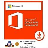 Office 2019 Professionnel 32 Bits & 64 Bits - Clé de Licence Originale par Postale et E-Mail + Instructions de TPFNet® - Livraison Maximum 60min