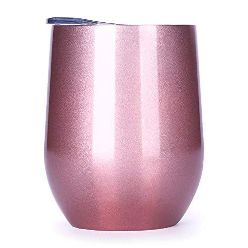 s Weinglas, 340 ml, exklusiv für Zuhause, Büro, perfekt für Wein, Kaffee, Getränke, Champagner, Cocktails ()