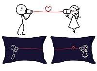 Bisbiglio di amore (blu) federe sono semplici e tuttavia adorabile, esclusivamente progettati per esprimere sentimenti d'amore. Questo regalo romantico unico è un ottimo modo di condividere emozioni con una persona cara. Ideale per ogni occas...