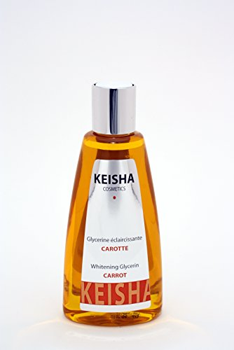 CARROT OIL SKIN LIGHTENING | BRIGHTENING | WHITENING | BLEACHING | FAIRNESS | GLYCERIN OIL 200ml - BY KEISHA COSMETICS - 100% Guaranteed FRENCH FORMULA - with Carotte huile by Keisha Cosmetics (Aufhellung Bleaching Creme)