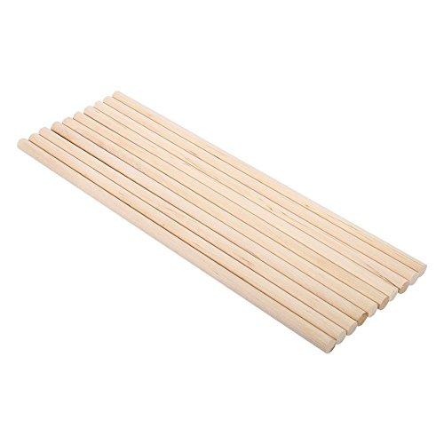 Yosoo Holzhandwerk Sticks Dübel Pole Pack von 10 natürlichen weißen Birke Runde Holz Werkzeug (Größe: 1cm * 30cm) - Weiße Birke Natürlichen
