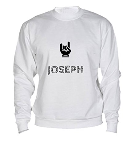 Felpa Joseph - Print Your Name White