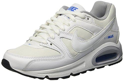 Nike Air Max Command (Gs) Scarpe da ginnastica, Bambino Bianco (White/White-White-Black)